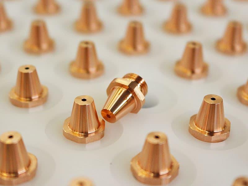 Laserové dělení, laserové řezání, náhradní díly na laserové dělení, spotřební díly na laserové dělení, trysky, čočky, optika, krycí měchy